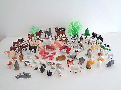 large bundle of farm animals & more Toy Figures job lot 77-in-total