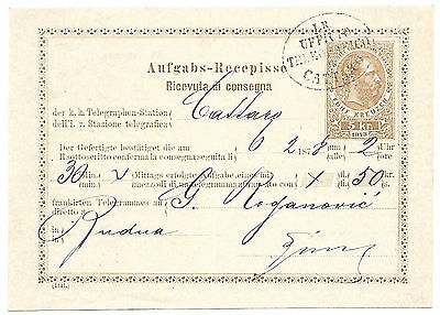 Austria 1878 Cattaro used telegraph form