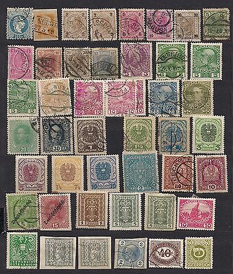 Austria lot of 100 early stamps