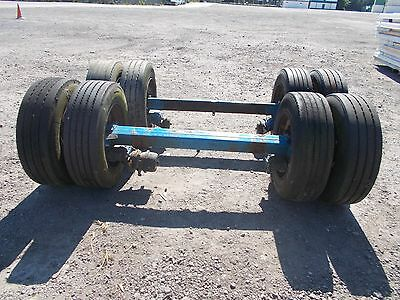 Pair  commercial Axles + Wheels For Tractor  trailer Low Loader.  BPW Eco Plus