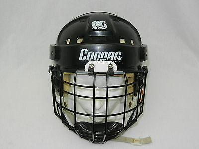 VINTAGE BLACK COOPER SK2000 Helmet Senior ICE Hockey GOALIE GEAR + ITECH L. CAGE