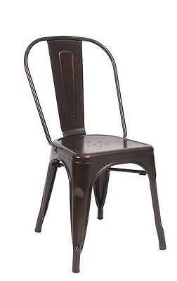 New Brown Cafe Metal Indoor Or Outdoor Chair Restaurant Furniture Seating