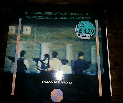 "Cabaret Voltaire I Want You 12"" Vinyl Cvs5-12 1985 Virgin Recs Vg+/vg+"