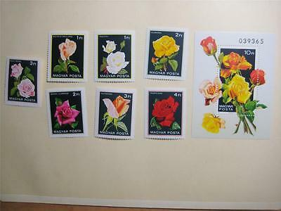 Hungary 1982 Roses Mnh Sc2735-2742   Lot51