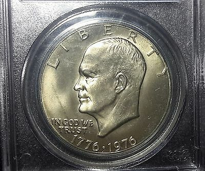 1976-P Eisenhower IKE Dollar PCGS MS65 Type 1 light gold color and no hazing