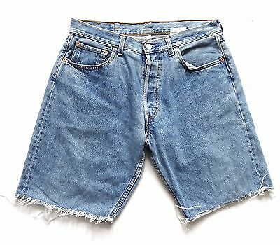 "Men's Vintage Levi's Denim Cut Off Shorts 34"" Waist"