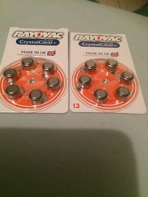 2X Rayovac Crystal Clear Plus 13 Packs 12 Batteries In Total Good Date