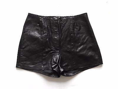 Women's Vintage Remade / Reworked Leather Shorts Retro Boho 10