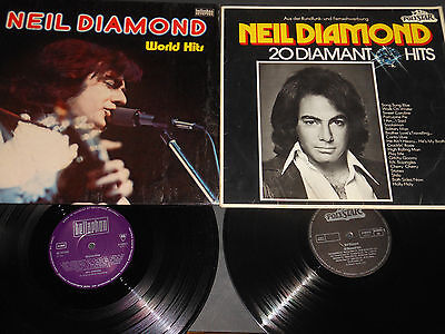 2 Vinyl LP NEIL DIAMOND 20 Daimant Hits & World Hits