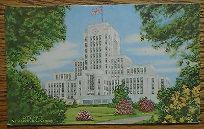 City Hall Vancouver B.c. Canada - Vintage Postcard By Coast Publishing