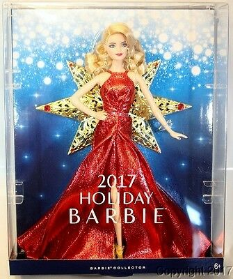 2017 HOLIDAY Blonde Barbie Doll IN STOCK NOW!