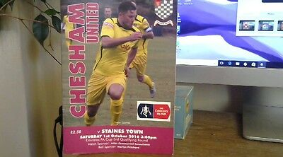 CHESHAM UNITED  V STAINES TOWN  2016/17   FA CUP 3rd qual round