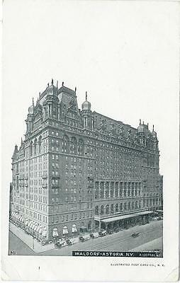 New York - Waldorf Astoria Hotel, 1901 postcard