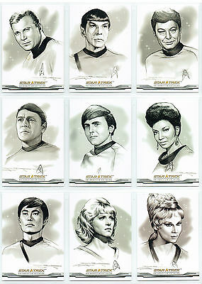 Star Trek 40Th Anniversary Complete Set Of 43 Artifex Bridge Crew Cards