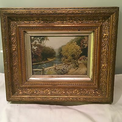 Antique Gilt Picture Frame With Slip