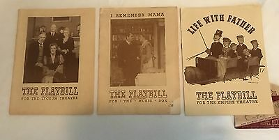 1943 -45/Late George Apley/I Remember Mama/Life w Father