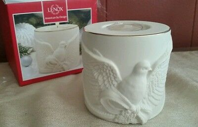 Lenox dove candle holder - new