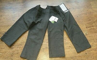 2 Pairs Boys School Trousers Age 3 Next flat front