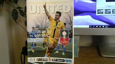 SUTTON UNITED  V   WORTHING       2016/17  FA TROPHY 2nd round replay