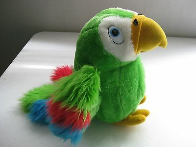 Vintage 12 Inch Tall Dakin Talking Parrot 1984