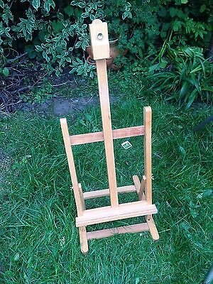 DELUXE VINTAGE ADJUSTABLE PAGET SOLID WOODEN DESK TOP ARTIST EASEL 13 x 12""