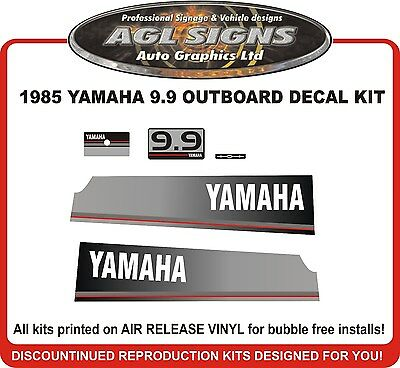 1985 YAMAHA 9.9 HP  Outboard Decal Kit reproductions 15 hp alsp