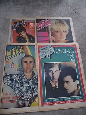 4 issues Record Mirror 1981 - UFO, The Beat, Phil Collins , Genesis, and more