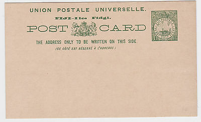 c1890s FIJI 1½d VR POSTAL STATIONERY POSTCARD MINT UNUSED VGC