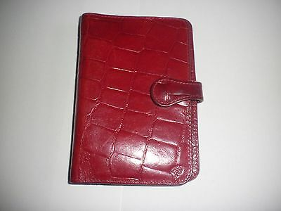 Mulberry Red Leather organiser / filofax VGC