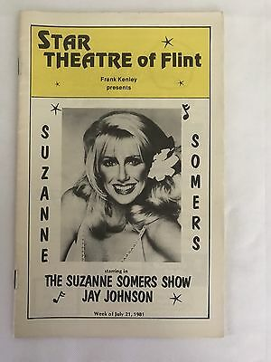 The SUZANNE SOMERS Show Jay Johnson Star Theatre of Flint 1981 Program Book
