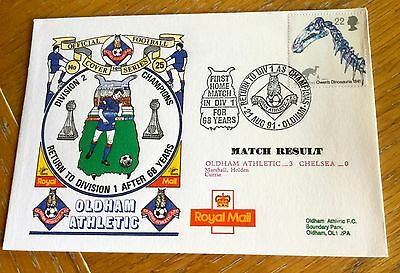 Football First Day Cover  Oldham Athletic V Chelsea