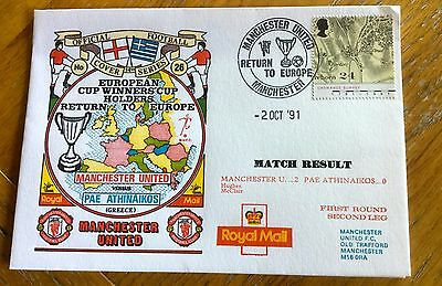 Football First Day Cover  Manchester United V Pae Athinaikos
