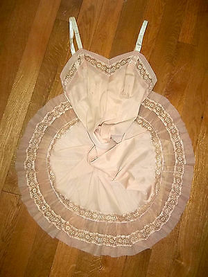 Vintage Full Slip Crystal Accordion Pleat 1950s SEAMPRUFE Apricot Lingerie 34
