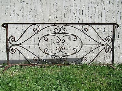 Antique Iron Garden Fence Divider Barrier Architectural Salvage Door 80x2x32 #02