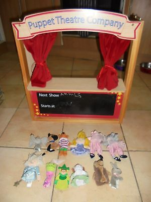 ELC Wooden Puppet Theatre with 12 Finger Puppets
