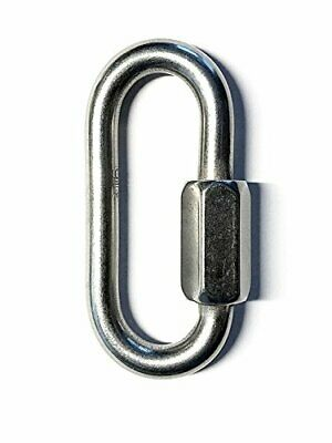 """Stainless Steel 316 Quick Link 3/16"""" (5mm) Marine Grade for Boating or Rigging"""