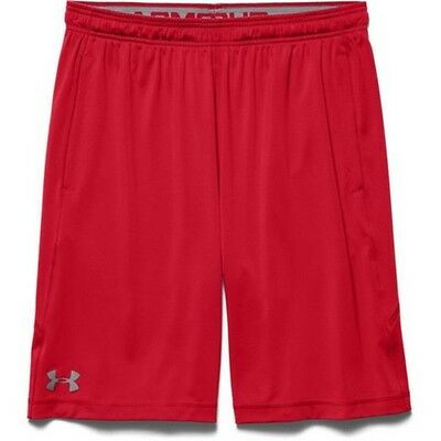 "Under Armour 1253527 Men's Red UA Raid 10"" Inseam Shorts - Size Large"