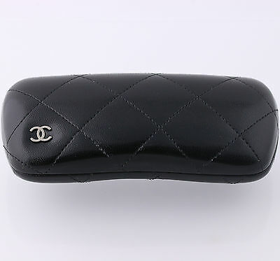 New Chanel Small Black Hard Sunglasses Case - Designer Eyewear Holder Hinged