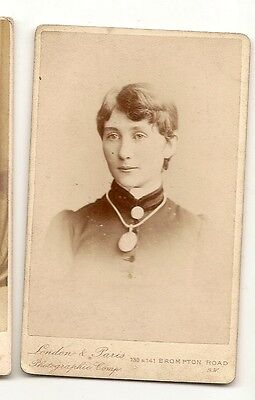Victorian Cabinet Cdv Photograph Lovely Young Lady Brompton Road London