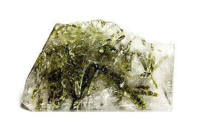 GemsVillage 192 Ct. XL - Defined crystals of Epidote on Brazilian natural quartz