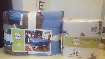 Circo Pirate 5 pc Bedding Set Full / Queen Quilt Comforter + Full Size Sheets