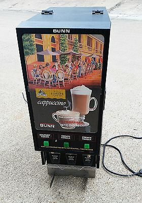 Bunn-o-Matic HC-3 Cappuccino Hot Chocolate Cocoa Machine 3-Flavor Dispenser