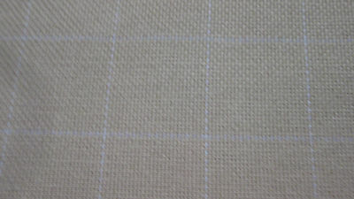 COTTON MONKS CLOTH for Primitive Rug Hooking 2 X 2 grid natural by the yard