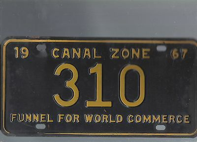 Vintage 1967 CANAL ZONE  CAR  license plate 310