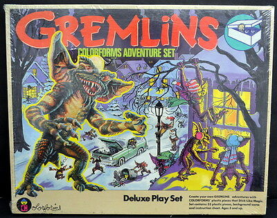 1984 Gremlins COLORFORMS Adventure Set Deluxe Playset - FACTORY SEALED