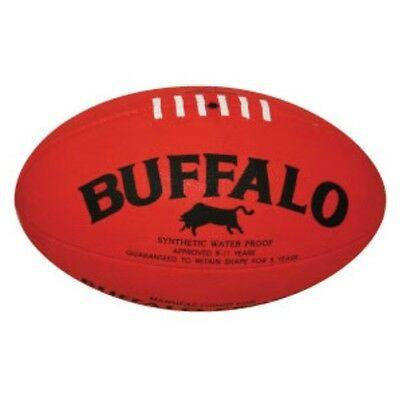 Buffalo Sports Cellular Rubber Football - Sizes 2 / 3 / 4 / 5 Red / Yellow Sqsp