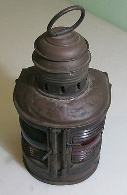 Antique Perko Perkins Marine light lantern Red Green Maritime Industrial - AS IS