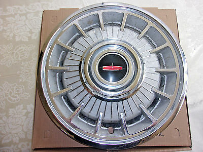 "1964 Olds Deluxe Hub Cap 14"" Stainless With Chrome Ornament   - HC856"