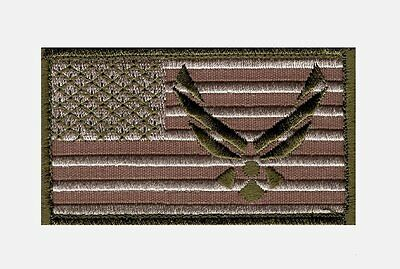 Air force Logo USAF USA Flag Embroidered Morale Hook patch 3.5 X 2.0