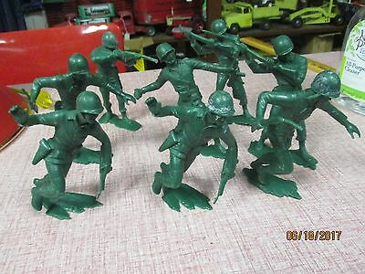8 Marx 6 Inch Green Army Soldiers